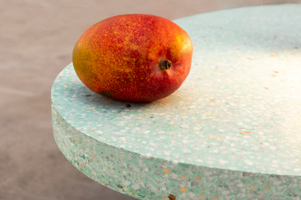Pop colour table top, custom Terrazzo