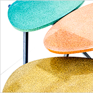 Set of coloured Granito tables