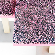 Table tops in custom coloured Terrazzo
