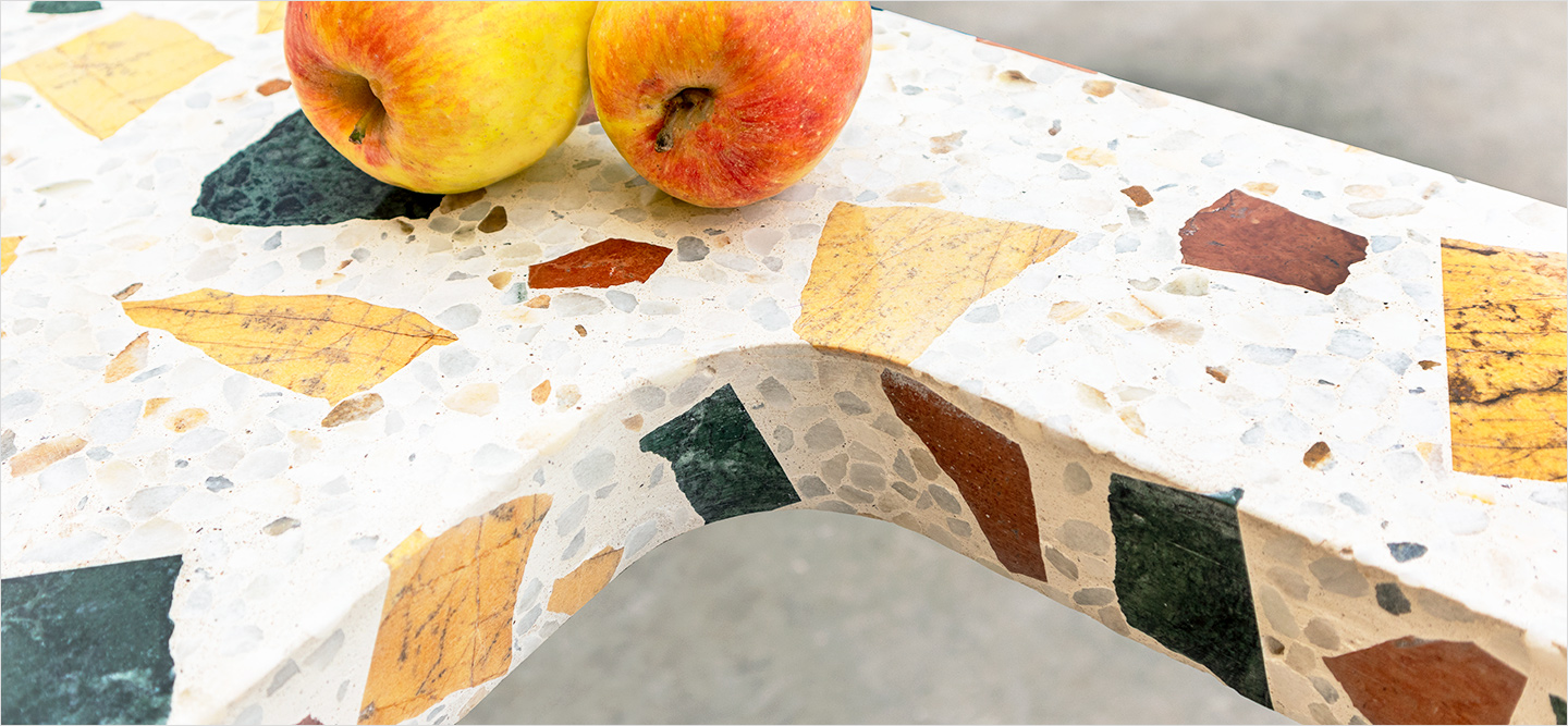 Kitchen worktop with sink in Terrazzo Wild