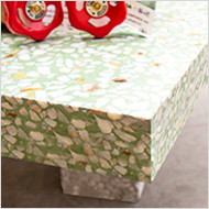 Kitchen worktop in Green Terrazzo