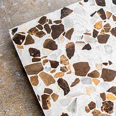 Brown and Mix white marble chips