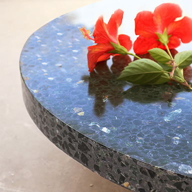 Green and Black Terrazzo table
