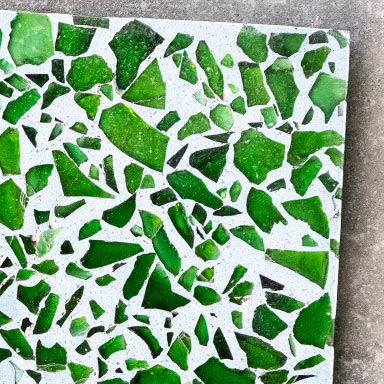 Recycled green crystal Terrazzo