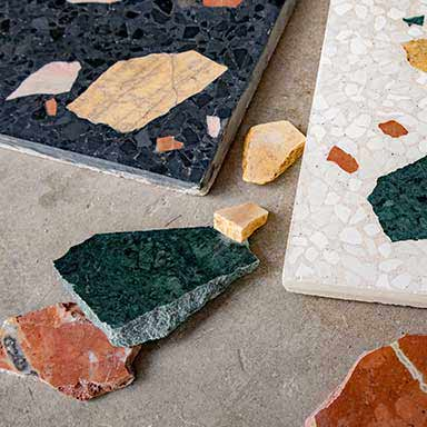 Recycled marbles and Terrazzo tiles