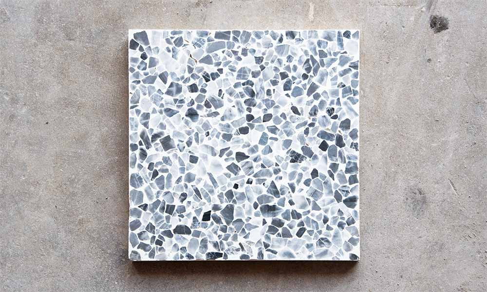 Marble 10, Grey chips and White cement background