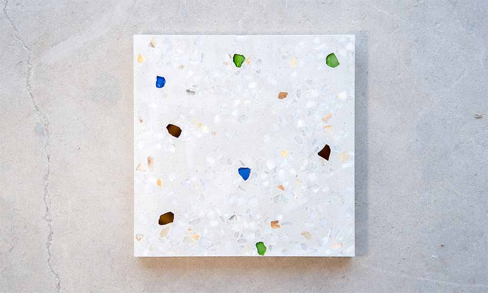 Terrazzo Marble 5+, colour 501 with coloured glass chips