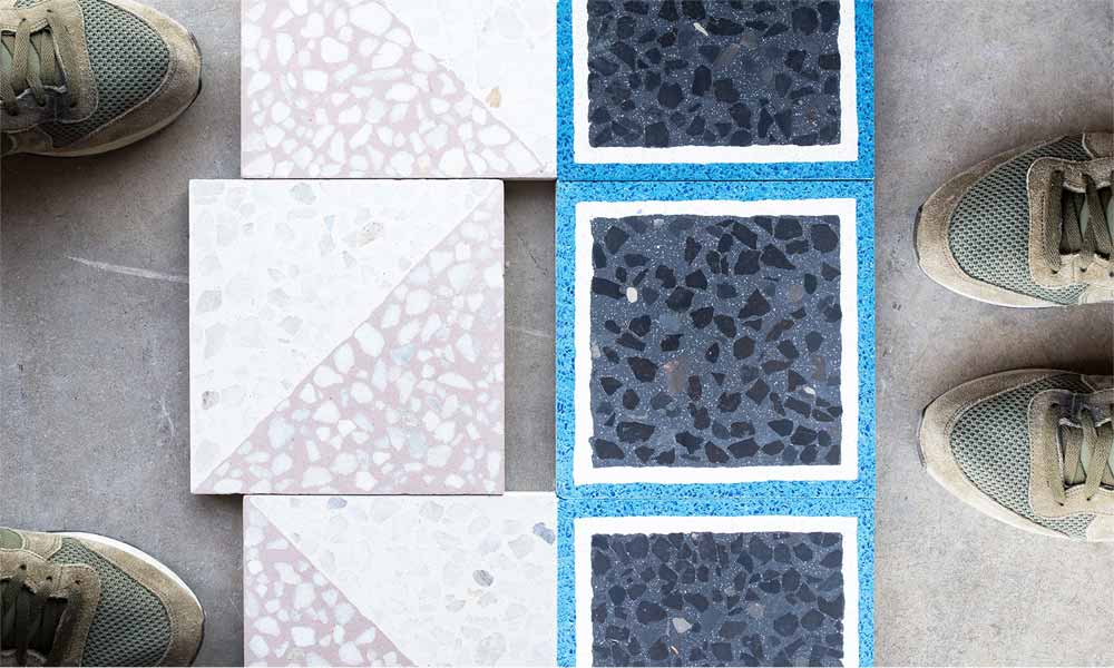 Terrazzo Pattern tiles 20x20cm. Design your customised tile in our simulator