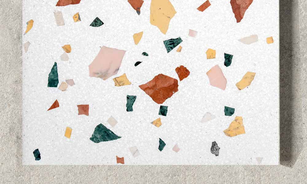 "Terrazzo ""Wild small"" ref W2S, random mix of coloured marble"